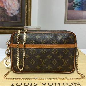 Louis Vuitton Compiegne Clutch/Crossbody Bag